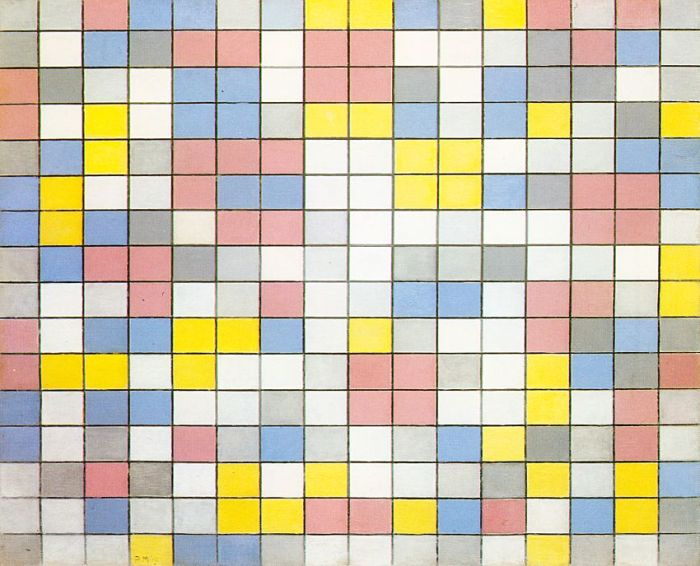 Piet Mondrian - Composition with grid IX