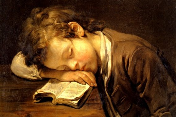 13932resizedimage569379-sad-boy-sleeping-with-book