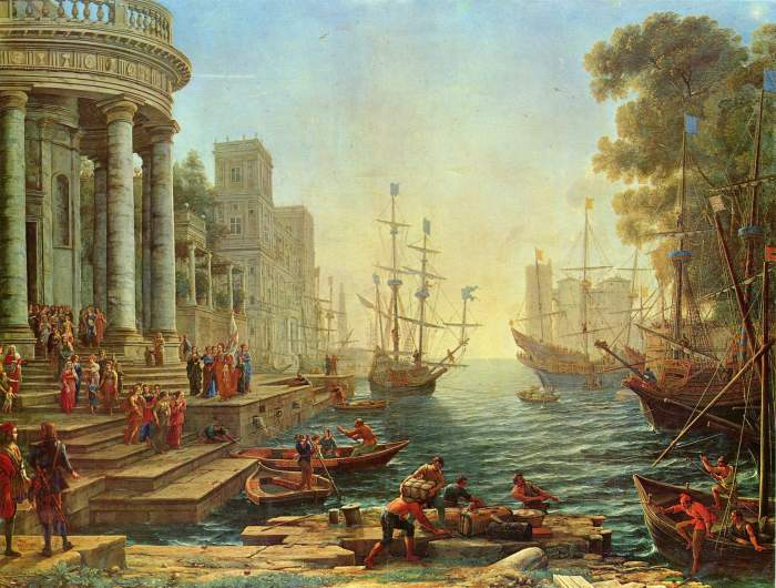 Claude Lorrain - Seaport with the Embarkation of St Ursula