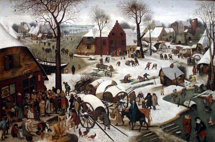 Pieter Brueghel - Spis ludnosci w Betlejem