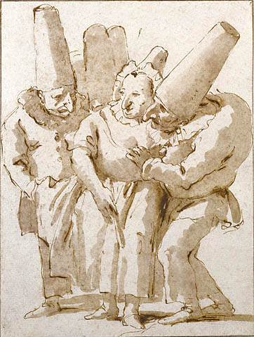 Giovanni Battista Tiepolo - Punchinello´s Approaching a Woman