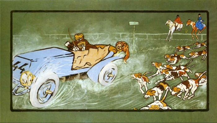 umberto-boccioni-car-and-hunting-fox-1904